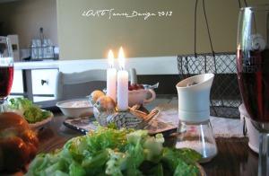 Shabbat Table Closeup